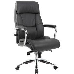 """Кресло из натуральной кожи BRABIX PREMIUM """"Phaeton EX-502"""", хром, черное, 530882"""