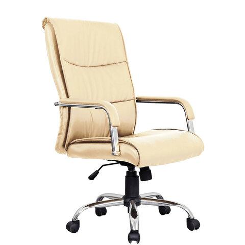"""Кресло офисное BRABIX """"Space EX-508"""", экокожа, хром, бежевое, 531165"""