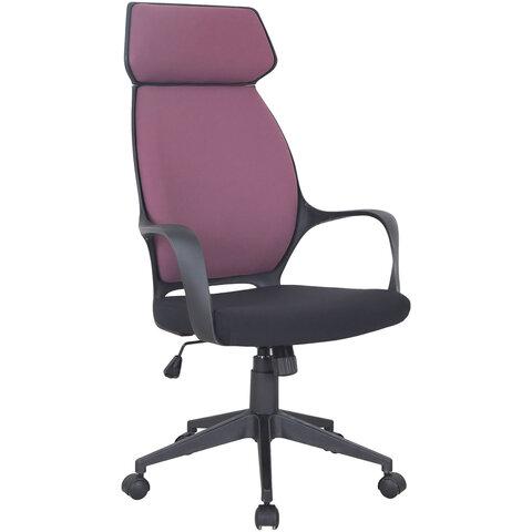 """Кресло офисное BRABIX PREMIUM """"Galaxy EX-519"""", ткань, черное/терракотовое, 531570"""
