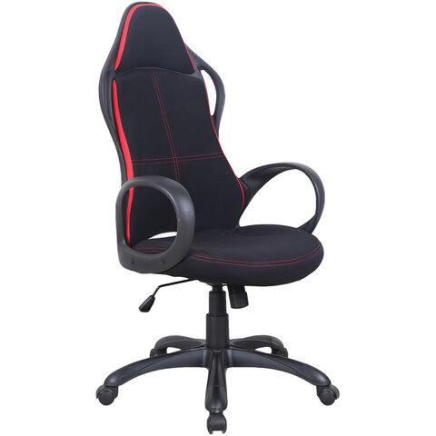"""Кресло офисное BRABIX PREMIUM """"Force EX-516"""", ткань, черное/вставки красные, 531571"""