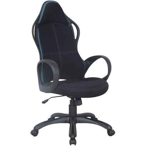 """Кресло офисное BRABIX PREMIUM """"Force EX-516"""", ткань, черное/вставки синие, 531572"""
