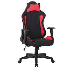 """Кресло компьютерное BRABIX """"GT Racer GM-101"""", подушка, ткань, черное/красное, 531820"""
