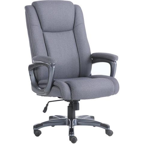"""Кресло офисное BRABIX PREMIUM """"Solid HD-005"""", нагрузка до 180 кг, ткань, серое, 531823"""