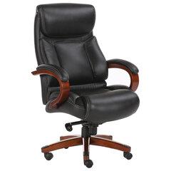 """Кресло из натуральной кожи BRABIX PREMIUM """"Infinity EX-707"""", дерево, черное, 531826"""