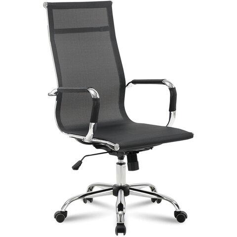 """Кресло офисное BRABIX """"Line EX-530"""", хром, сетка, черное, 531846"""