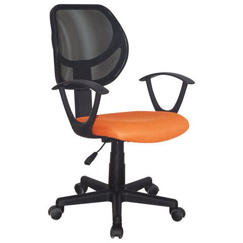 """Кресло компактное BRABIX """"Flip MG-305"""", ткань TW, оранжевое/черное"""