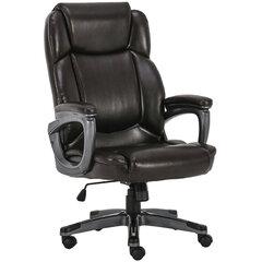 """Кресло офисное BRABIX PREMIUM """"Favorite EX-577"""", пружинный блок, рециклир. кожа, коричневое, 531936"""
