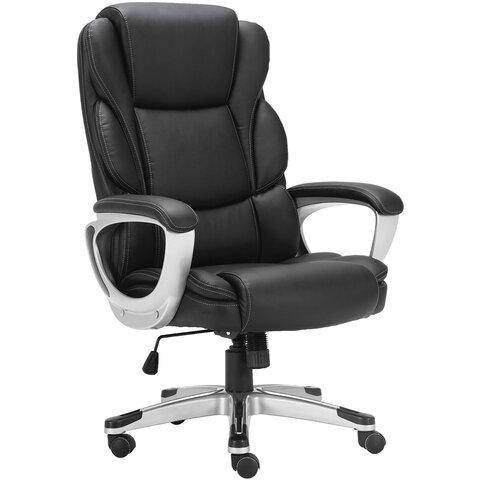 """Кресло офисное BRABIX PREMIUM """"Rest EX-555"""", пружинный блок, экокожа, черное, 531938"""
