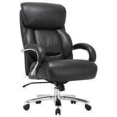 """Кресло из натуральной кожи BRABIX PREMIUM """"Pride HD-100"""", НАГРУЗКА до 250 кг, черное, 531940"""