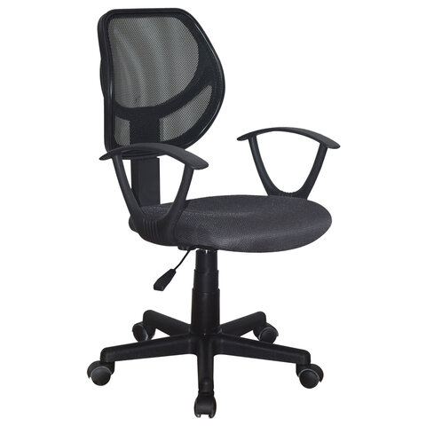 """Кресло компактное BRABIX """"Flip MG-305"""", ткань TW, серое/черное, 531951"""