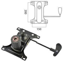"""Механизм качания BRABIX """"Топ-ган"""" для кресла, межцентровое расстояние крепежа 150х200 мм"""