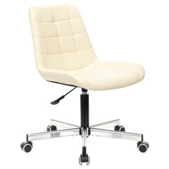 """Кресло BRABIX """"Deco MG-316"""", без подлокотников, пятилучие серебристое, экокожа, слоновая кость, 532081"""