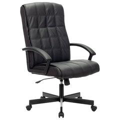 """Кресло офисное BRABIX """"Quadro EX-524"""", компактная упаковка, экокожа, черное, 532104"""