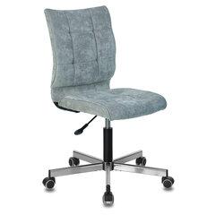 """Кресло BRABIX """"Stream MG-314"""", без подлокотников, пятилучие серебристое, ткань, серо-голубое, 532395"""