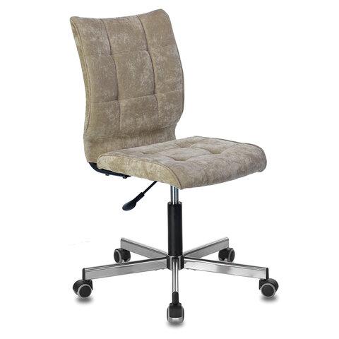 """Кресло BRABIX """"Stream MG-314"""", без подлокотников, пятилучие серебристое, ткань, песочное, 532396"""