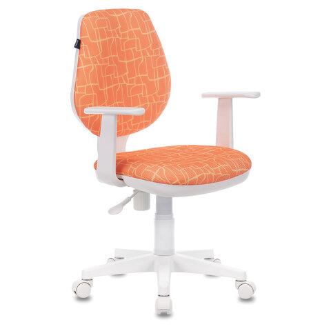"""Кресло BRABIX """"Fancy MG-201W"""", с подлокотниками, пластик белый, с рисунком """"Giraffe"""", 532407"""
