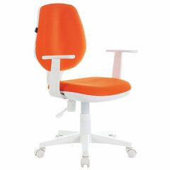 """Кресло BRABIX """"Fancy MG-201W"""", с подлокотниками, пластик белый, оранжевое, 532410"""