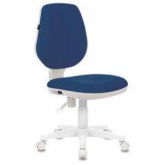 """Кресло BRABIX """"Fancy MG-201W"""", без подлокотников, пластик белый, синее, 532413"""