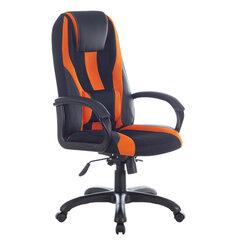 """Кресло компьютерное BRABIX PREMIUM """"Rapid GM-102"""", НАГРУЗКА 180 кг, экокожа/ткань, черно/оранжевое, 532420"""