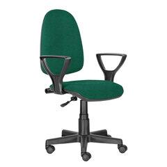 """Кресло BRABIX """"Prestige Ergo MG-311"""", регулируемая эргономичная спинка, ткань,черно-зеленое, 532421"""