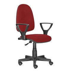 """Кресло BRABIX """"Prestige Ergo MG-311"""", регулируемая эргономичная спинка, ткань, красное, 532424"""