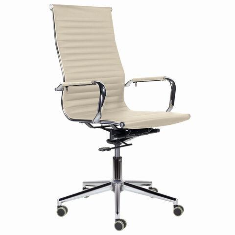 """Кресло офисное BRABIX PREMIUM """"Intense EX-531"""", экокожа, хром, бежевое, 532541"""