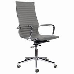 """Кресло офисное BRABIX PREMIUM """"Intense EX-531"""", экокожа, хром, темно-серое, 532542"""