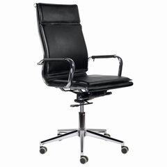 """Кресло офисное BRABIX PREMIUM """"Kayman EX-532"""", экокожа, хром, черное, 532543"""