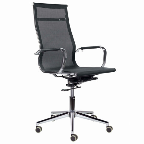 "Кресло офисное BRABIX PREMIUM ""Net EX-533"", хром, сетка, черное, 532546"