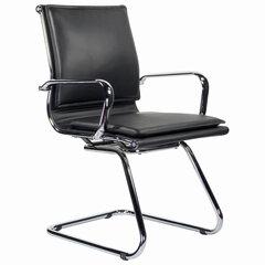 """Кресло для приемных и переговорных BRABIX """"Kayman CF-102"""", экокожа, хром, черное, 532572"""