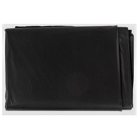 Мешки для мусора 200 л, черные, в пачке 5 шт., особо прочные, ПВД 50 мкм, 90х130 см, LAIMA, 601393