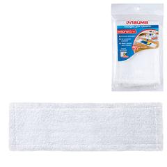 Насадка МОП плоская для швабры/держателя 40 см, карманы (ТИП К), микрофибра, упаковка, LAIMA, 601476
