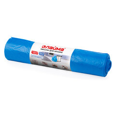Мешки для мусора 120 л синие в рулоне 50 шт., ПНД 18 мкм, 70х110 см, LAIMA стандарт, 601797
