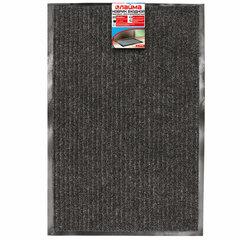 Коврик входной ворсовый влаго-грязезащитный LAIMA, 40х60 см, ребристый, толщина 7 мм, черный, 602863
