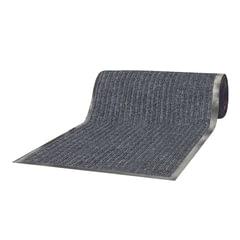 Коврик дорожка ворсовый влаго-грязезащита LAIMA, 0,9х15 м, толщина 7 мм, РЕБРИСТЫЙ, серый, В РУЛОНЕ, 602878