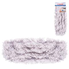 Насадка МОП плоская для швабры/держателя 40 см, карманы (ТИП К), хлопок (ворс 4,5 см), LAIMA, 603115