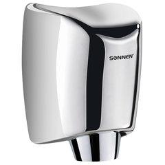 Сушилка для рук SONNEN HD-555, 1200 Вт, нержавеющая сталь, антивандальная, хром, 604747