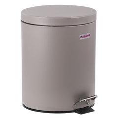 """Ведро-контейнер для мусора (урна) с педалью LAIMA """"Classic"""", 12 л, серое, матовое, металл, со съемным внутренним ведром, 604944"""