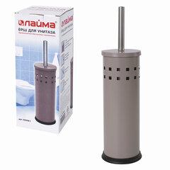 Ерш для унитаза LAIMA, с подставкой, металл, серый, матовый, 604961