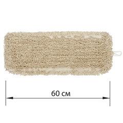 Насадка МОП плоская 60 см для швабры-рамки, карманы, нашивной хлопок, LAIMA EXPERT, 605305