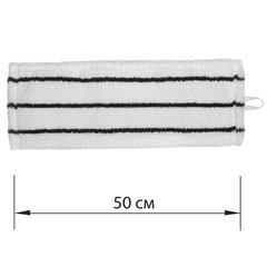 Насадка МОП плоская для швабры/держателя 50 см, уши/карманы (ТИП У/К), микрофибра/скраб, LAIMA EXPERT, 605314