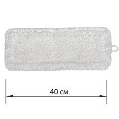 Насадка МОП плоская для швабры/держателя 40 см, уши/карманы (ТИП У/К), петлевая микрофибра, LAIMA EXPERT, 605315