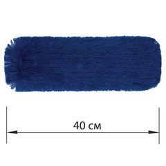 Насадка МОП плоская 40 см для швабры-рамки, карманы, СУХАЯ УБОРКА, акрил, LAIMA EXPERT, 605319