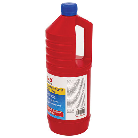 Средство для прочистки канализационных труб 1 л ТРУБОЧИСТ (тип КРОТ), ЛАЙМА PROFESSIONAL, 605377