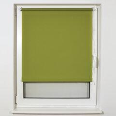 Штора рулонная BRABIX 55х175 см, текстура - лён, защита 55-85%, 200 г/м2, зелёный S-32, 605979