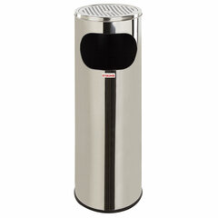 Урна с пепельницей 18 литров, 580х210 мм, нержавеющая сталь, зеркальная, LAIMA PROFESSIONAL, 606297
