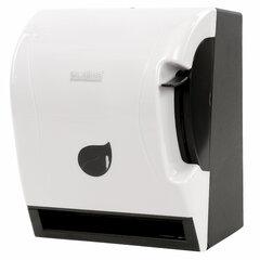 Диспенсер для полотенец в рулонах LAIMA PROFESSIONAL ECO (Система Н1), механический, с рычагом, белый, ABS-пластик, 606549