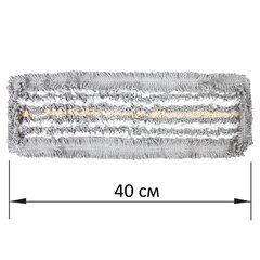 Насадка МОП плоская для швабры/держателя 40 см, ТИП У/К, хлопок/микрофибра, СЕРАЯ, LAIMA EXPERT, 606629