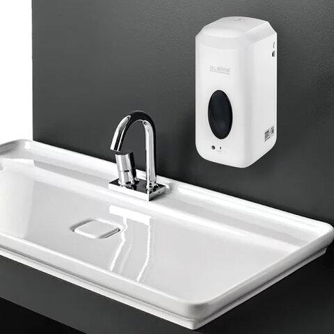 Диспенсер для жидкого мыла LAIMA CLASSIC, НАЛИВНОЙ, СЕНСОРНЫЙ, 1 л, с блоком питания, белый, 607318