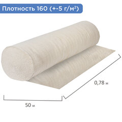 Полотно НЕТКОЛ, Узбекистан, рулон 0,75х50 м, плотность 160 (±5) г/м2, в пакете, LAIMA, 607524